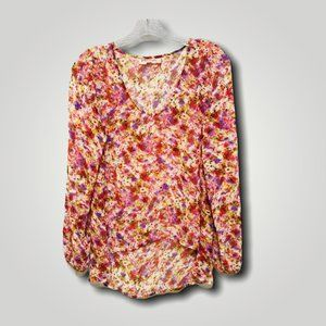 Philosophy Abstract Asymmetrical Blouse